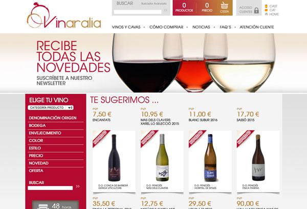 Desarrollo ecommerce Vinaralia