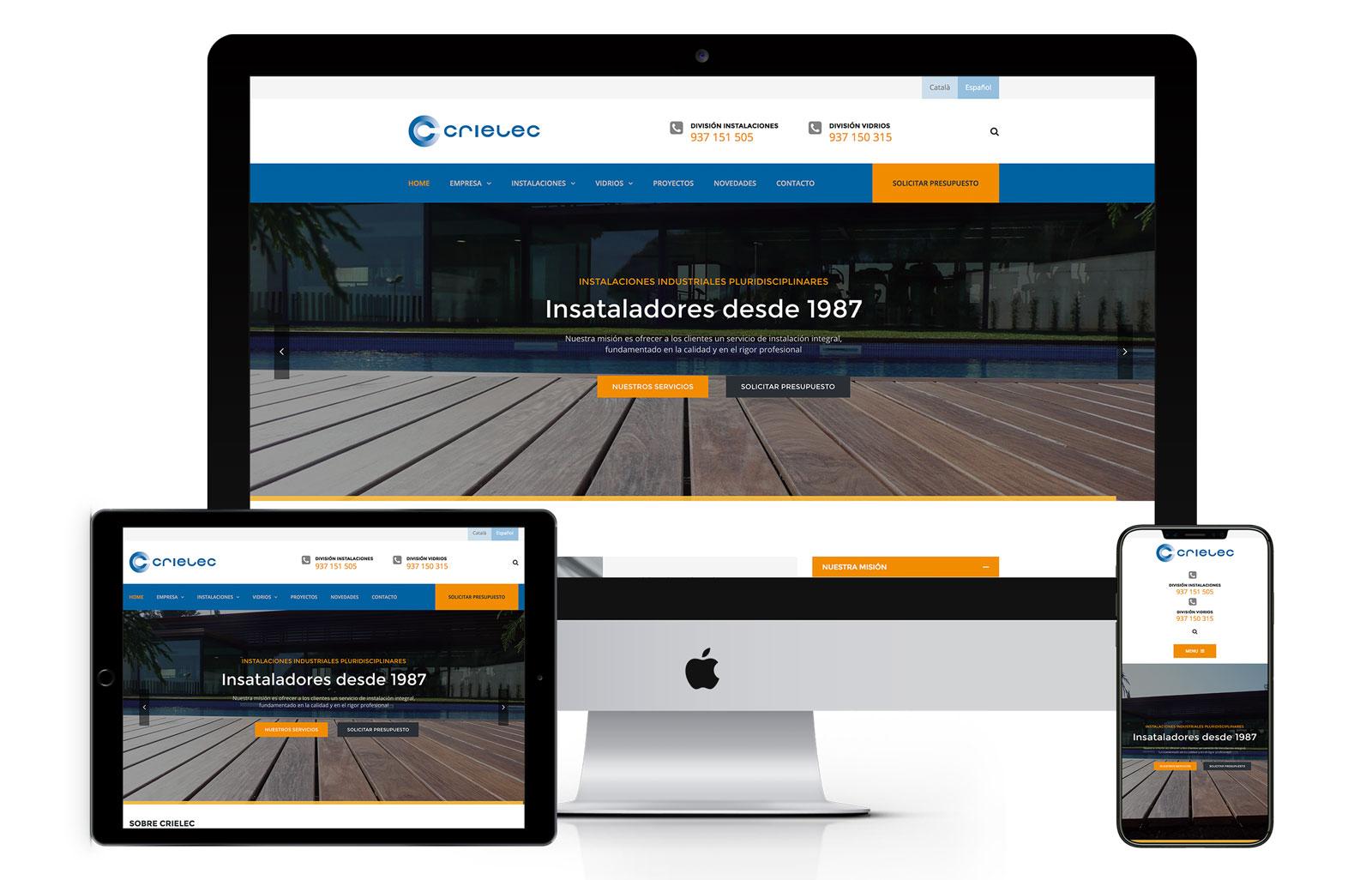 Diseño web Crielec