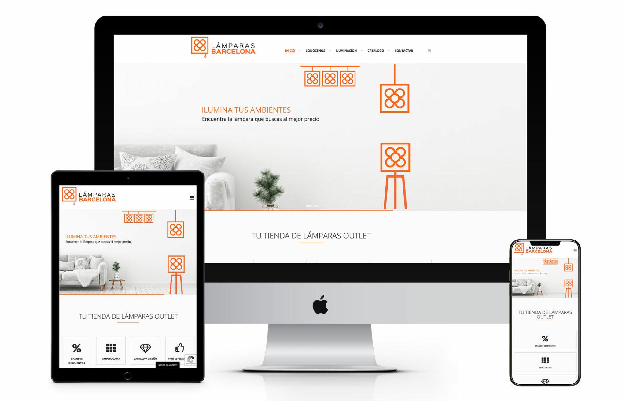 Diseño web lámparas barcelona