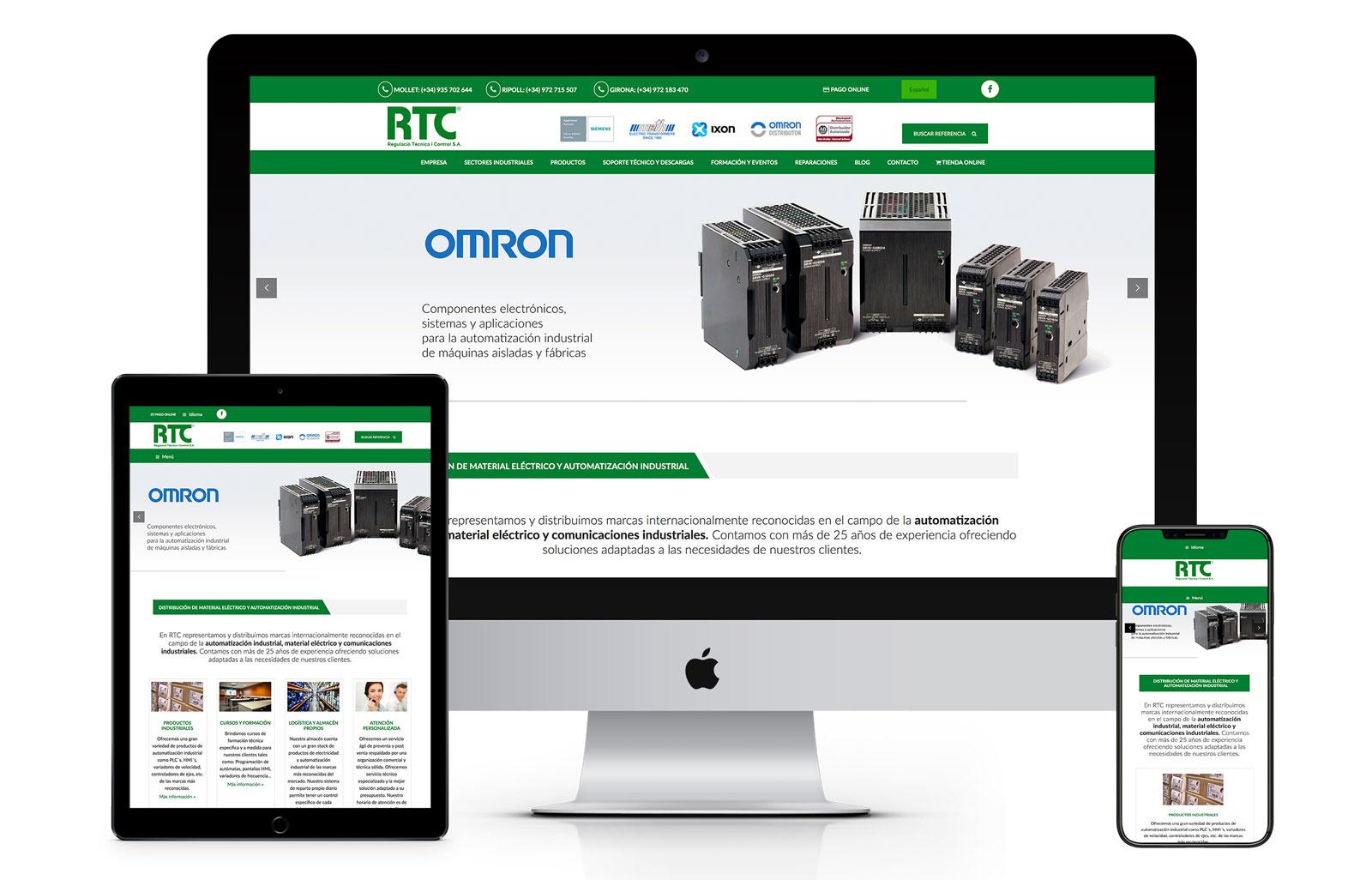Creación web responsive RTC
